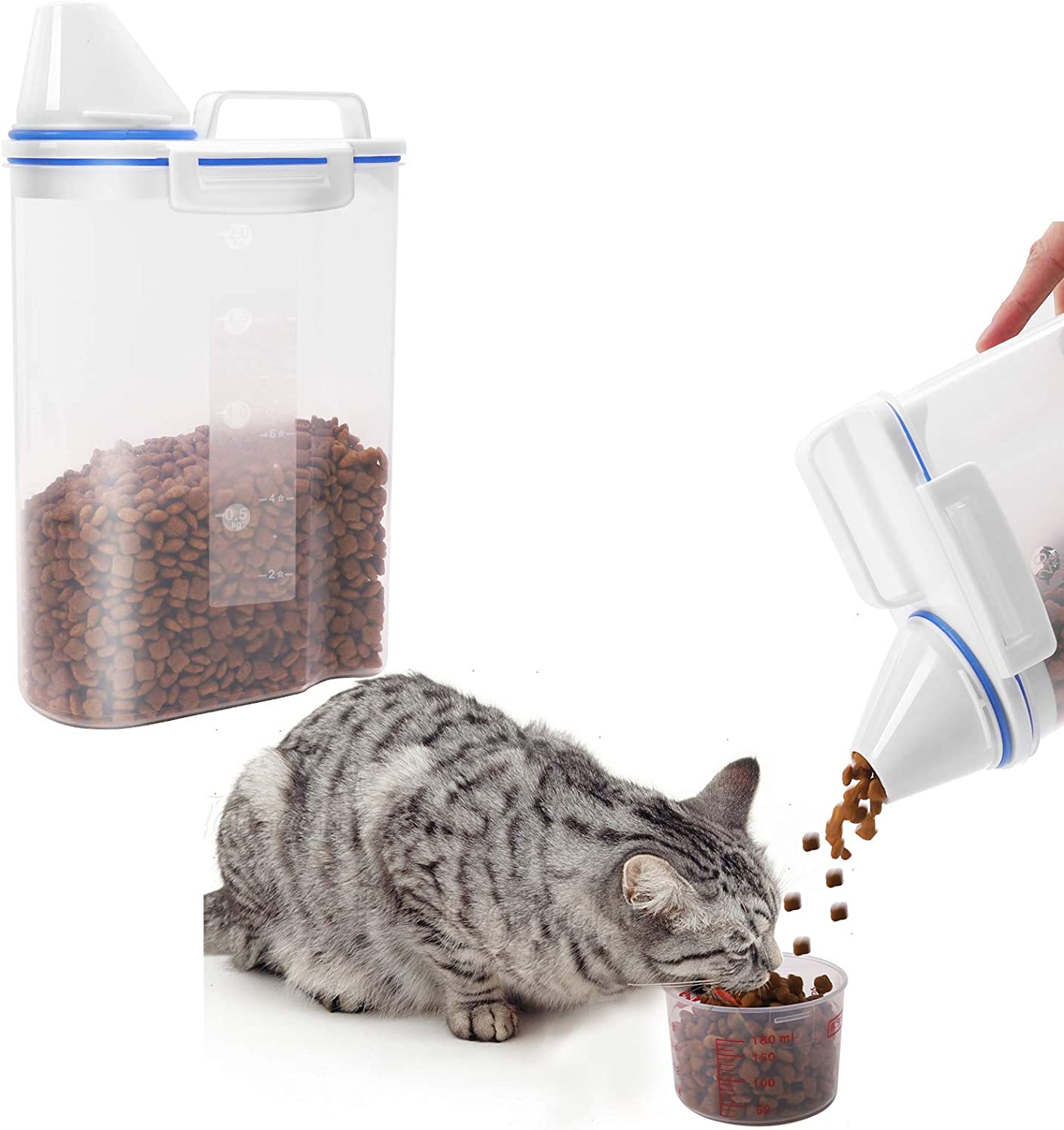 Homie Life Pet Food Container for Dogs Cats, Airtight Dog Food Container