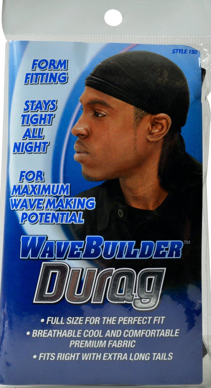 WaveBuilder Premium Stretch Durag for Smooth and Uniform Hair Waves White