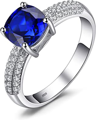 Jewelrypalace Damen Ring, Synthetischer Saphir