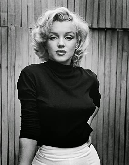 Marilyn monroe black and white 8x10 photo
