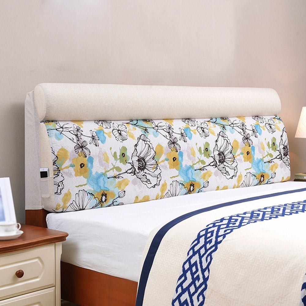 European bedside cushions soft bag / children bed large back pad / cloth can be removable wash ( Size : 1906012cm )