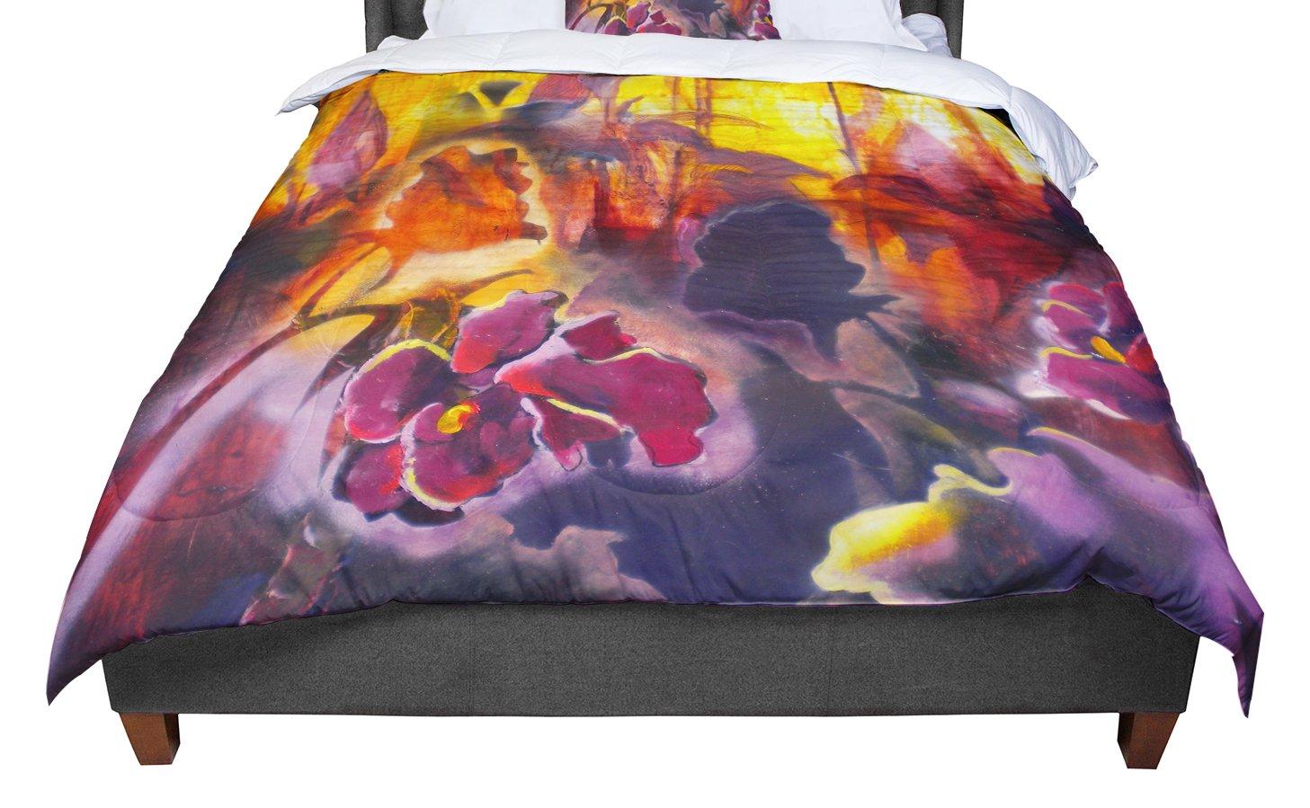 KESS InHouse Kristin Humphrey Release Pink Orange King Cal King Comforter 104 X 88