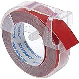 Dymo Ruban de Marquage 3D 9 mm x 3 m - Blanc sur Rouge