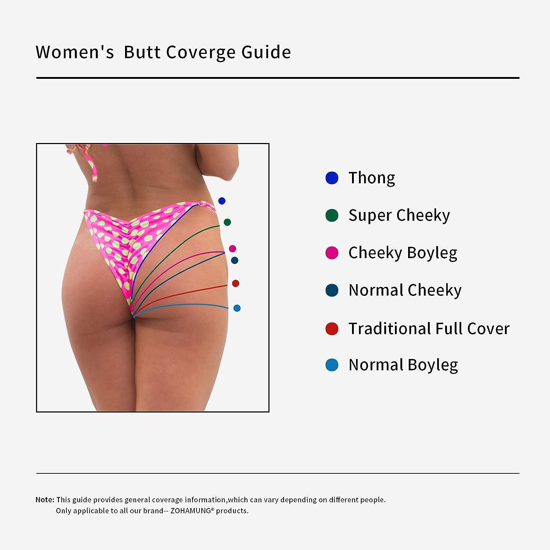 b131cbb0431 Amazon.com  CENG MAU ZOHAMUNG Women s High Waisted Bikini Bottoms Brazilian  Cheeky Cut Out Bow Ruched Tankini Panties(BK