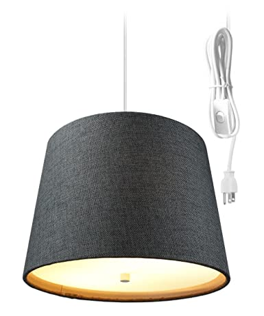 Pendant lighting plug in Swag Light Plug In Pendant Light By Home Concept Hanging Swag Lamp Granite Grey Burlap Amazoncom Light Plug In Pendant Light By Home Concept Hanging Swag Lamp