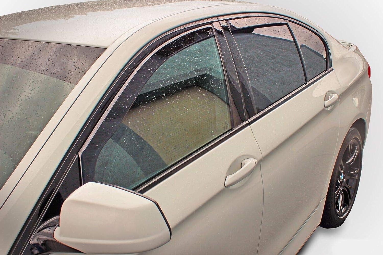 Deflecteurs dair d/éflecteurs de Vent Compatible avec Mercedes S W220 4 Portes 1999-2005 4 pi/èces J/&J AUTOMOTIVE