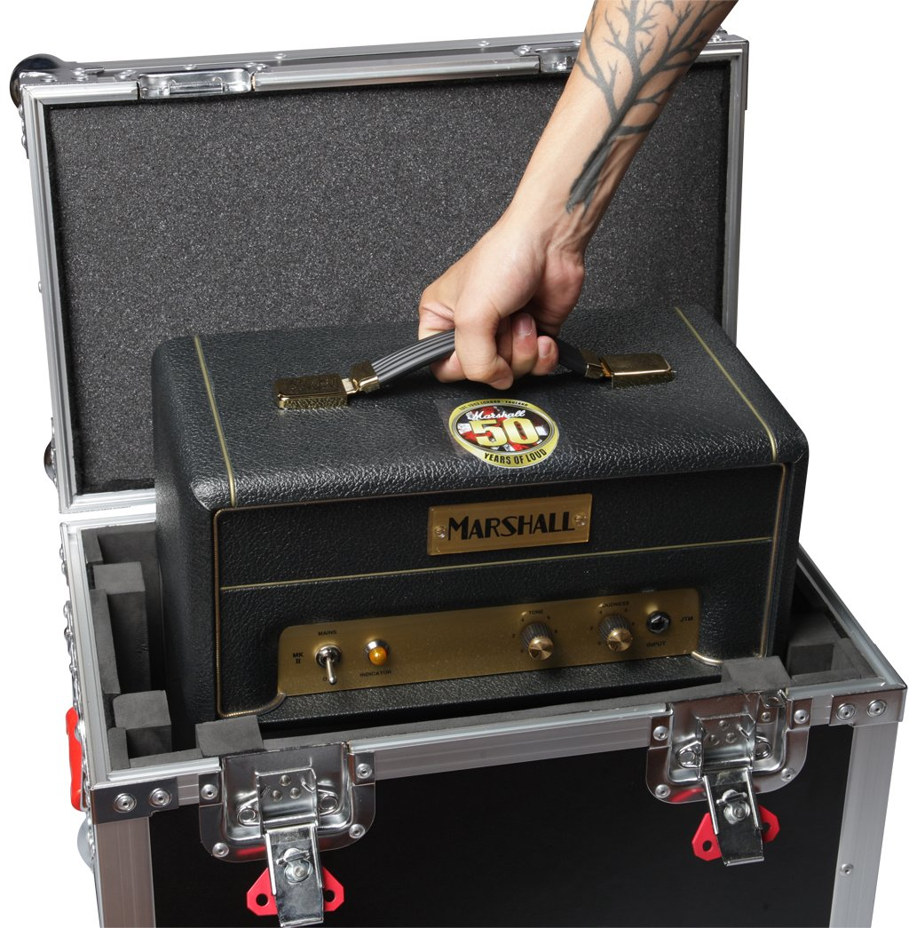 G-TOURMINIHEAD2 Gator Cases G-TOUR Series ATA Style Road Case for Mini Electric Guitar Amp Heads Such as Marshall JTM1H Equipped with Heavy Duty Latches and Spring Loaded Handles;