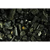 Crystal Allies Materials: 1lb Bulk Rough Black Tourmaline Crystals from Brazil - Large Raw Natural Stones Reiki Crystal…