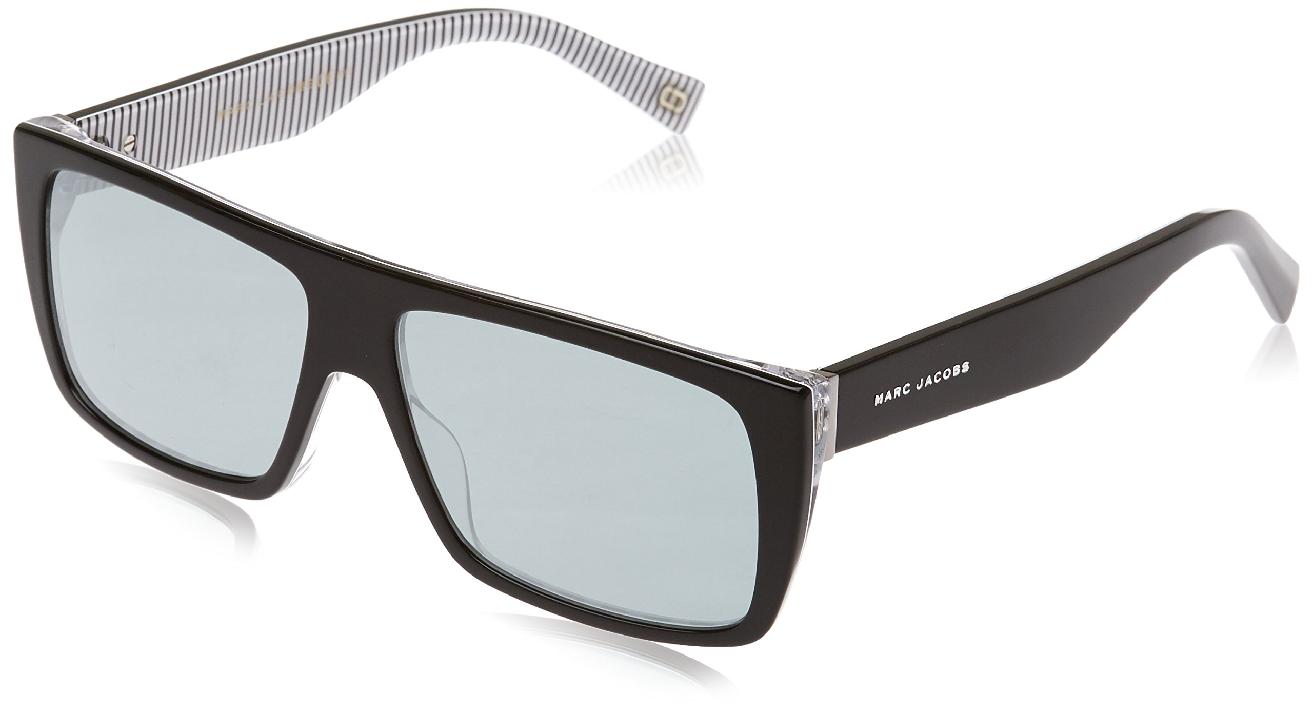 Marc Jacobs Marc096s Rectangular Sunglasses, Str Blck, 57 mm