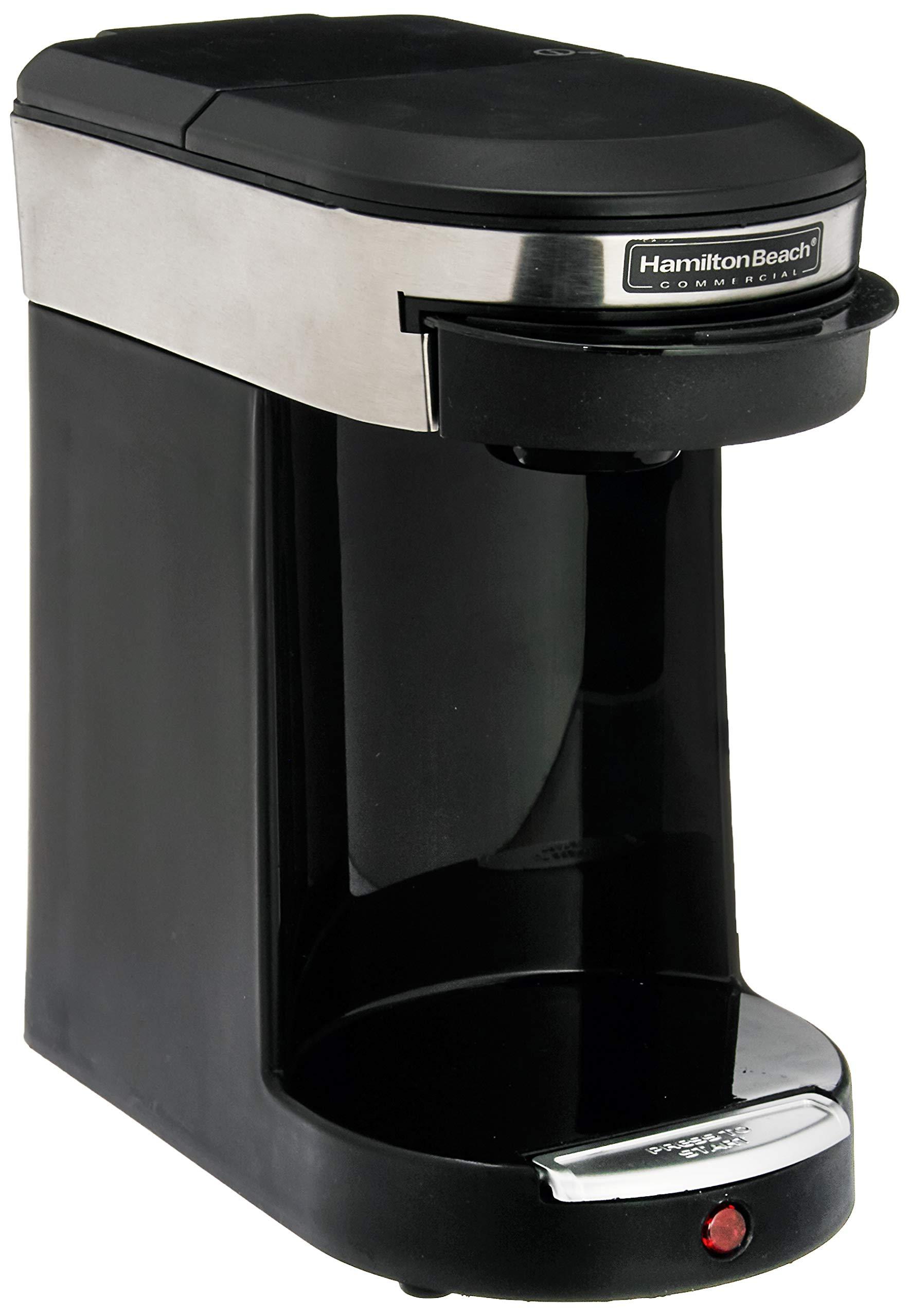 Hamilton Beach SMALL APPLIANCES 1030390 Stainless Steel/Black Beach Single Cup Hospitality Coffeemaker with 3-Minute Brew Time by Hamilton Beach