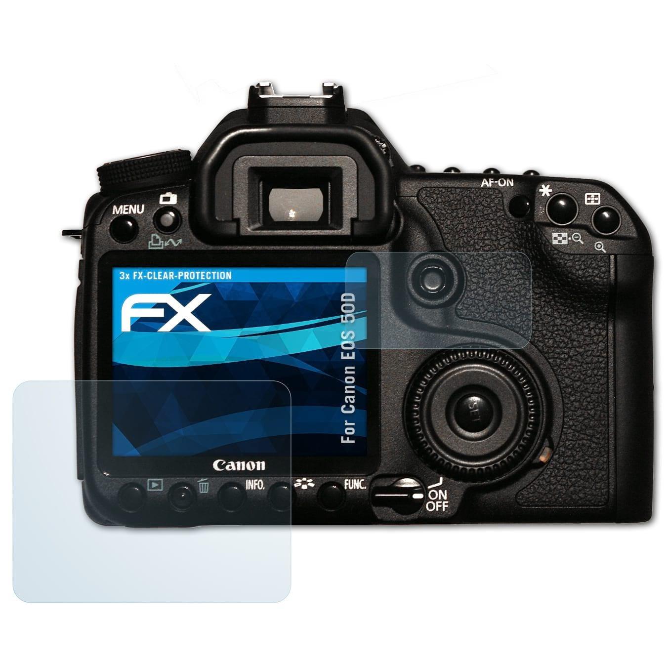 atFoliX Lámina Protectora de Pantalla Compatible con Canon EOS 50D ...