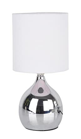 Modern Touch Lamp Lounge Bedside Table Lights Lamps Chrome Finish