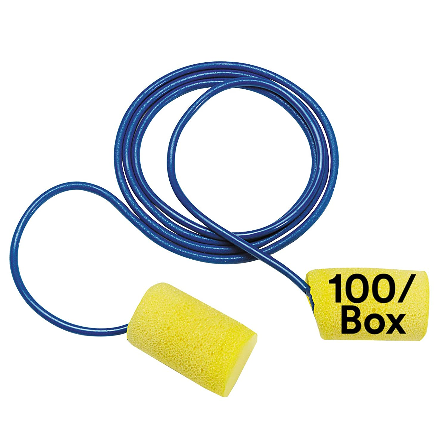 3M Ear Plugs, 75/Box, E-A-R Classic 311-1110, Corded, Disposable, Foam, NRR 29, For Drilling, Grinding, Machining, Sawing, Sanding, Welding, 1/Paper Bag, yellow: Science Lab Ear Plugs: Industrial & Scientific