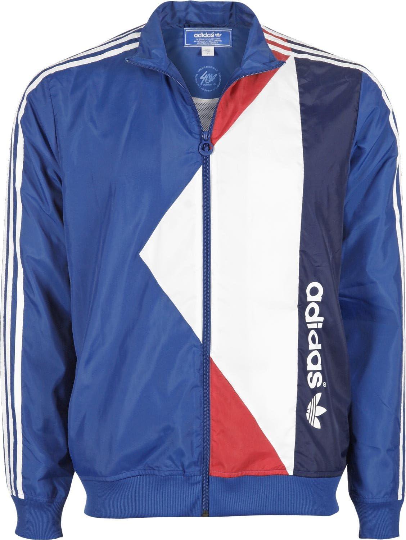 adidas Retro WB Jacke S lone bluewhite: : Sport