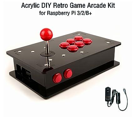 Amazon cqrobot acrylic diy retro game arcade kit for raspberry cqrobot acrylic diy retro game arcade kit for raspberry pi 32b solutioingenieria Image collections