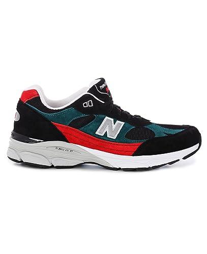 New Balance Baskets pour Homme Noir Nero, Verde, Rosso