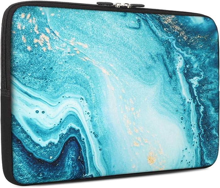 iCasso 13-13.3 inch Laptop Sleeve Bag, Waterproof Shock Resistant Neoprene Notebook Protective Bag Carrying Case Compatible MacBook Pro/MacBook Air- River Sand