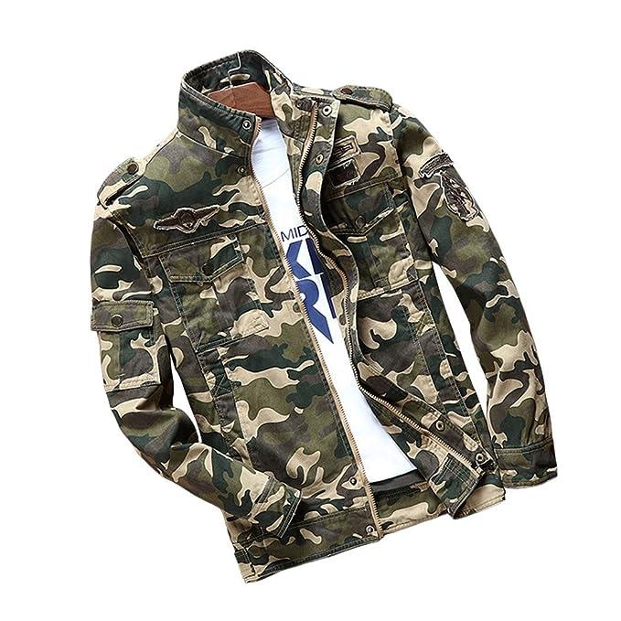 Dehutin Herren Tarnung Mantel Leicht Bomberjacken Militär Mode Jacken:  Amazon.de: Bekleidung