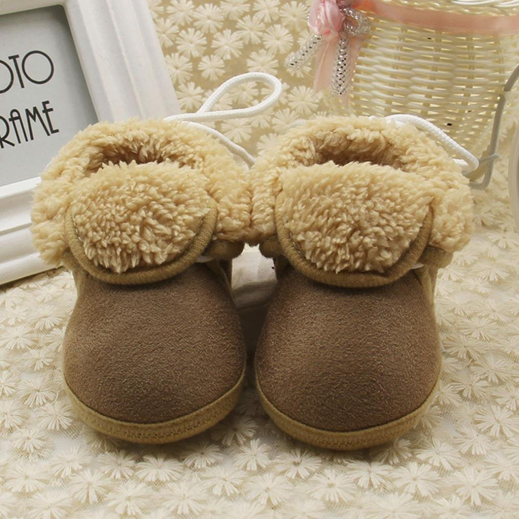 Zapatos de invierno beb/é Amlaiworld Botas beb/é Ni/ña Ni/ño invierno Zapatos calientes reci/én nacidos Cuna Zapatos 0-18 Mes