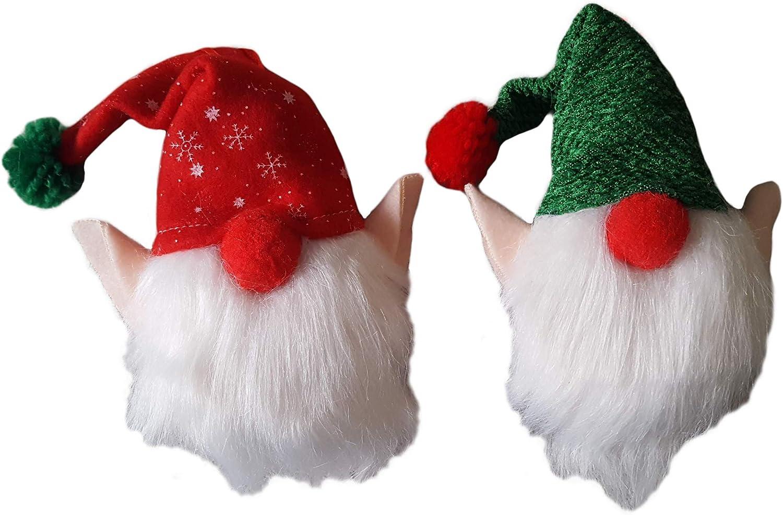 2 red /& white hat gnome ornament