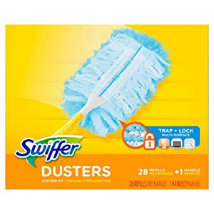 Swiffer Dusters Dusting Kit, Starter Kit 1 Handle & 24 Duster Swiffer Refills