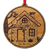 Our First Home Christmas Ornament Personalized First House Ornament House Warming Gift Christmas Ornaments Couple First Christmas Holiday Tree Ornaments Engraved Gift Wood Custom