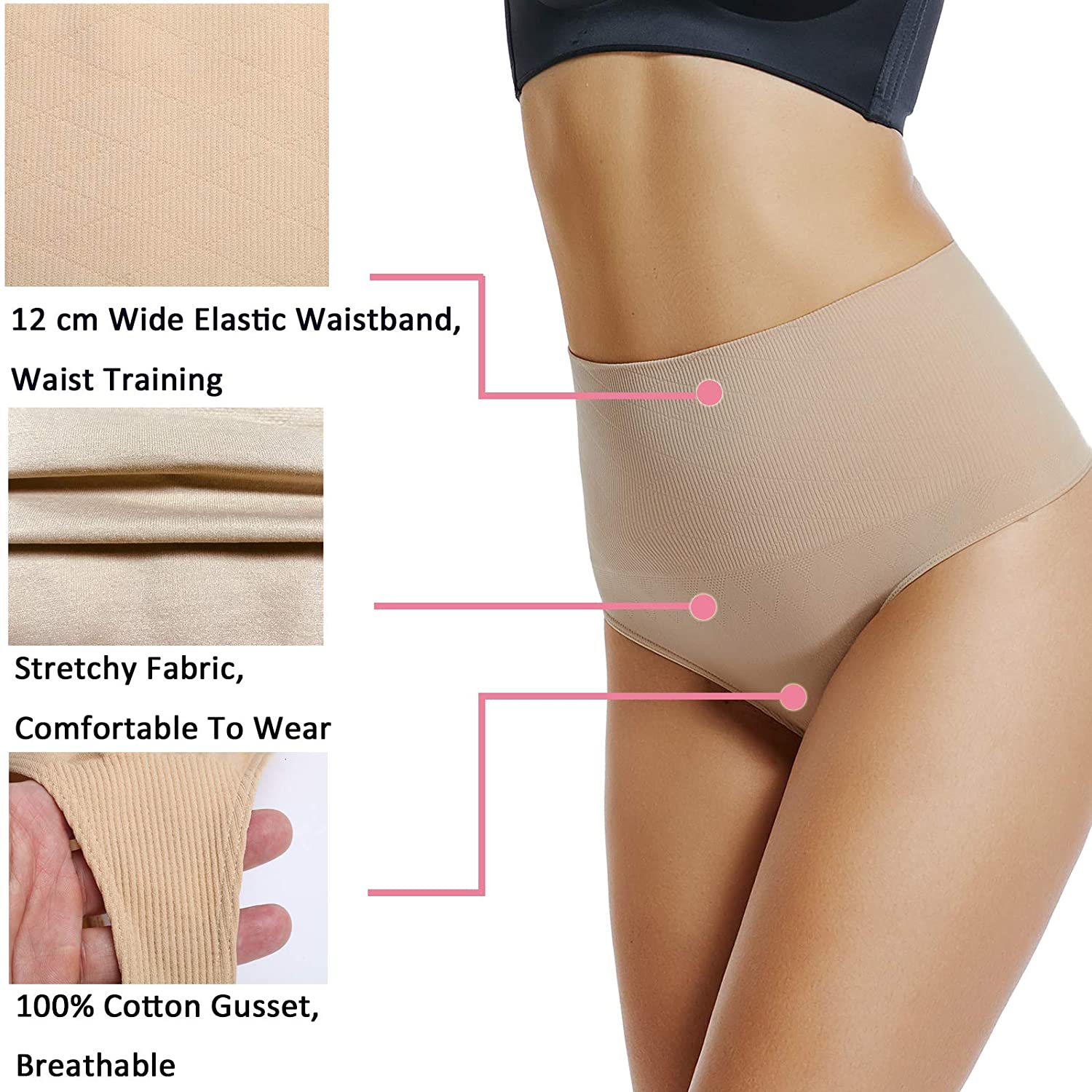 3f510da3de71a Thong Shapewear Women Waist Cincher Girdle Tummy Slimmer Sexy Thong Panty  Shaper Seamless Underwear at Amazon Women s Clothing store