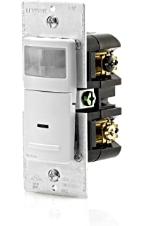 leviton odc0s i1w self contained ceiling mount occupancy sensor leviton ips06 1lw 600 watt incandescent 150 watt led cfl occupancy