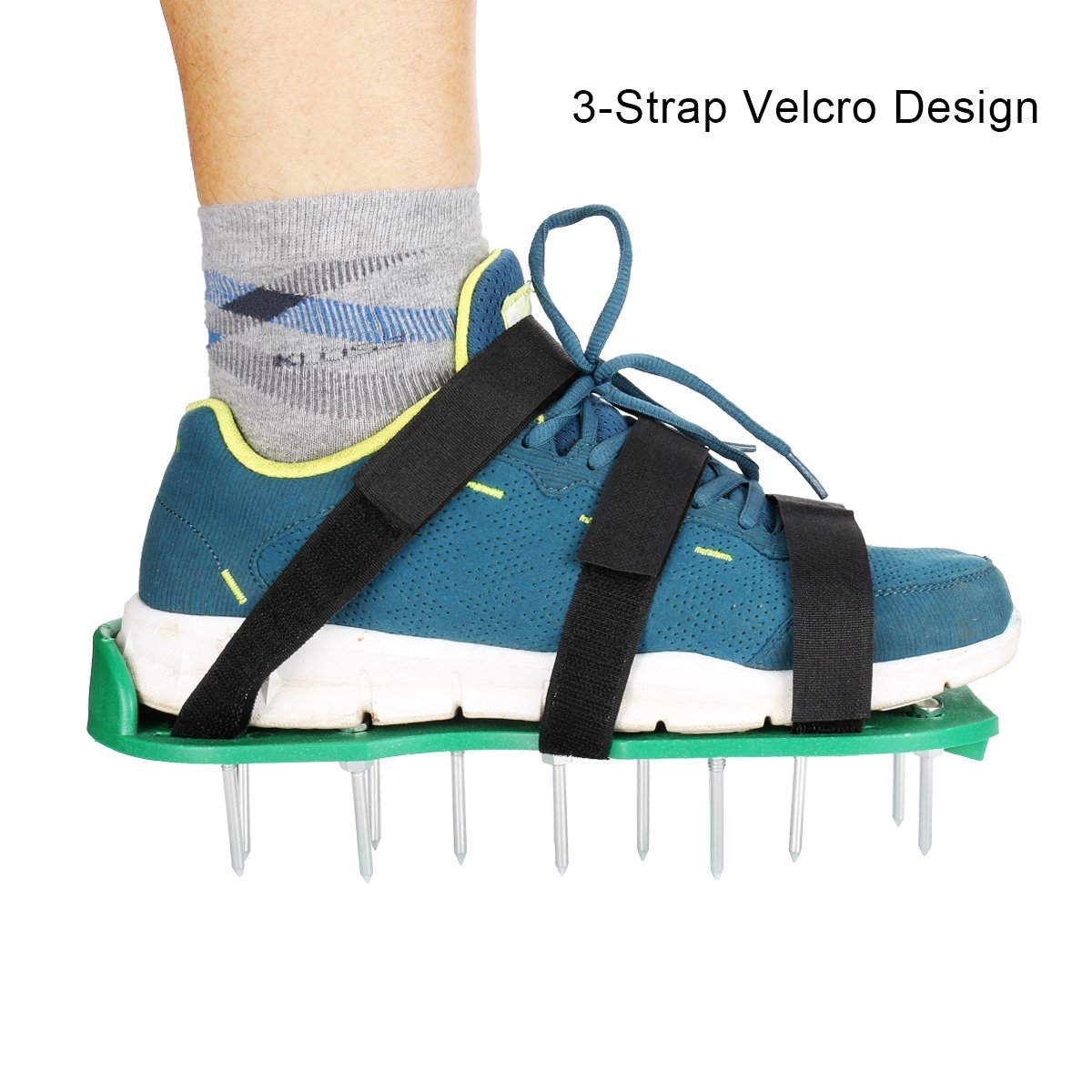 Lawn Aerator Shoes - GresaPop Spikes Lawn Aerator Sandals With 3 Velcro  Straps,Best Lawn