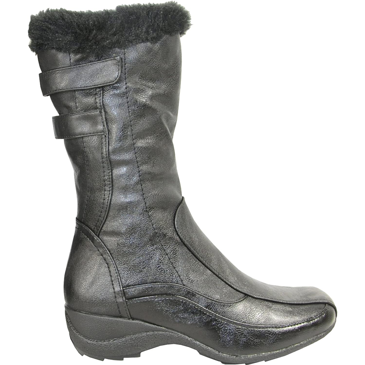 KOZI Women Casual Boots SD3412 Fur Lined with a Double Runner Square Toe