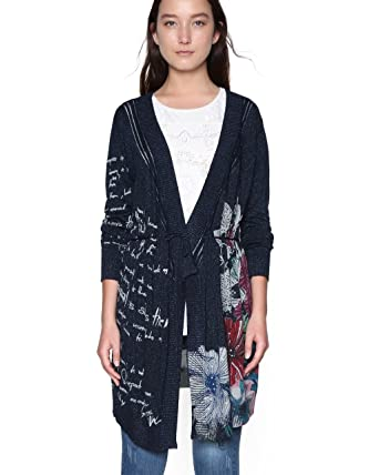 meilleur site web f1ccc f922d Desigual Cardigan Dakar Senegal 18SWJFAH ((M) at Amazon ...