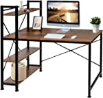 VECELO Computer Office Desk/Multipurpose Study Table H Shape with 4 Tier