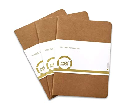 Amazon com : Kraft Notebook A5 size 80 Pages Single Ruled / Lined