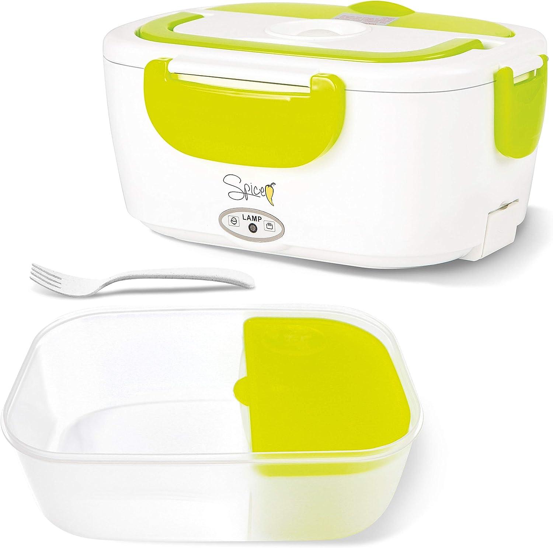 SPICE Set 2 Vaschette Amarillo Easy scaldavivande Elettrico Portatile con vaschetta Estraibile in Acciaio Inox e plastica 1,5 L