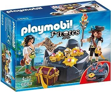 PLAYMOBIL - Escondite del Tesoro con Piratas (66830): Amazon.es: Juguetes y juegos
