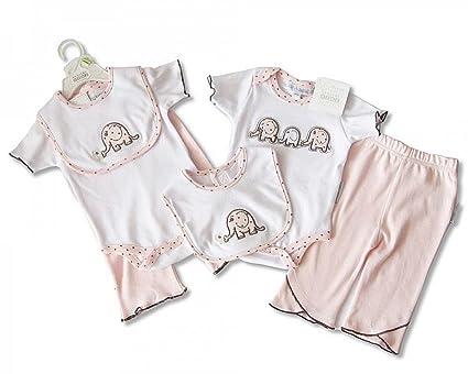 3 piezas bebé niña ropa Outfit Set Regalo Rosa Elefante 3 6 Meses ... 77ff03006d4
