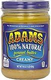 Adams Natural Peanut Butter, Creamy, 16 Oz