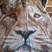 Cat Print housse de couette Et taie doreiller ensemble 3d simple 1 personne 138x200 cm animal print effet courtepointe ensembles de literie taies doreiller poly coton