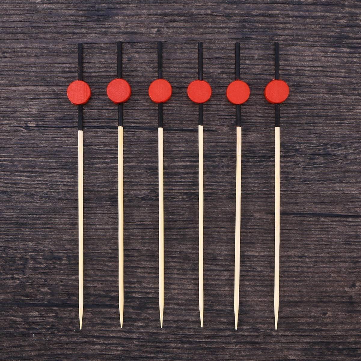 BESTONZON 200pcs Selecciones de c/óctel Granos planos de bamb/ú Granos Aperitivo Selecciones Palillos de dientes decorativos Martini Selecciones de oliva 12 cm