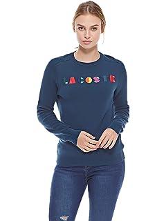 Amazon.com: Lacoste Crew Neck de la mujer interlock Une ...