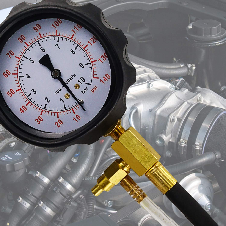 0-140 PSI Manometer Fuel Injection Pump Pressure Injector Tester Test Gauge Kit