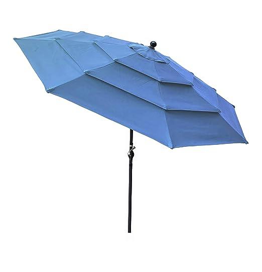 Honture - Paraguas Redondo de Aluminio de 3 Capas con Triple ...
