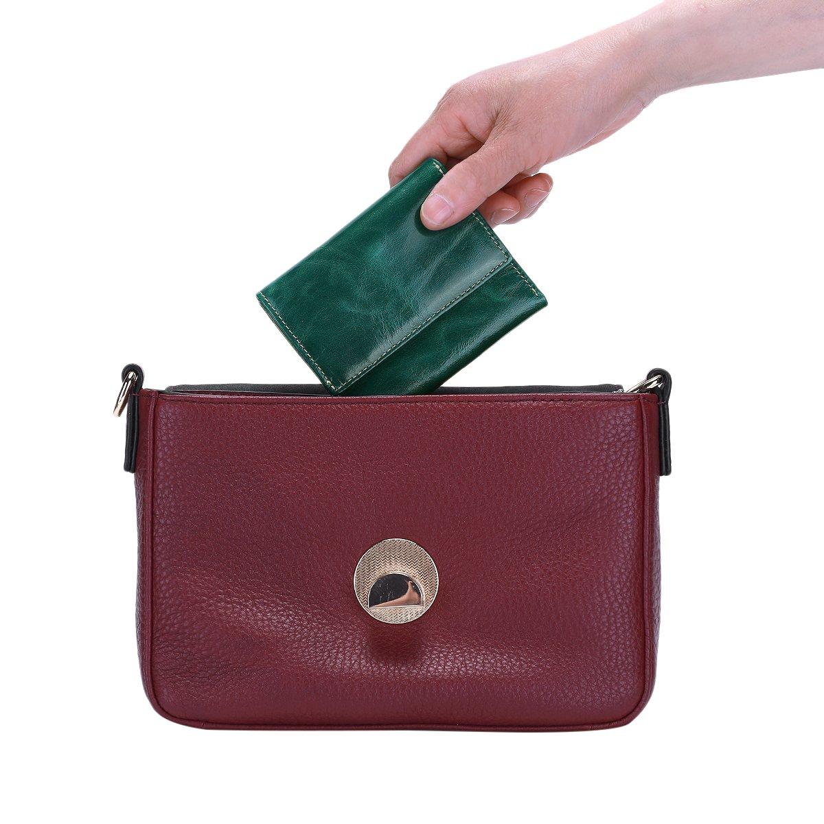 Amazon.com: itslife Mujer RFID bloqueo pequeño y compacto ...