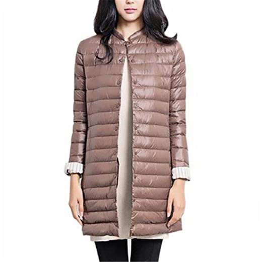Amazon.com: Dapengzhu 1PC Thin Down Jacket Winter Coat Women Winter Coat Women Long Coats Outerwear Parka Zang Qing XS: Clothing