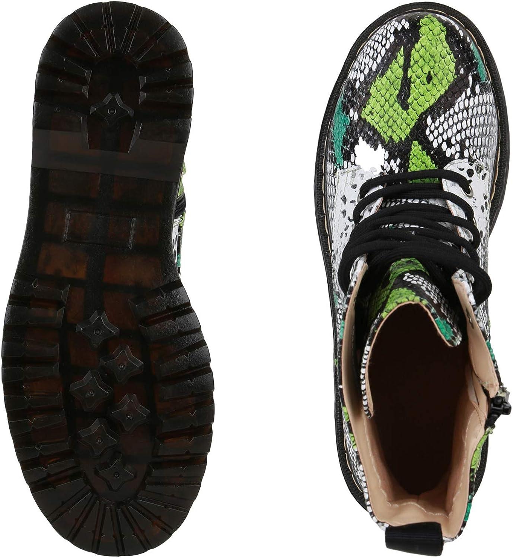 SCARPE VITA Damen Stiefeletten Plateau Boots mit Blockabsatz Profilsohle