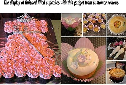 Creative Cupcake Cake Corer Plunger Cutter Plastic Decorating Divider M3M0