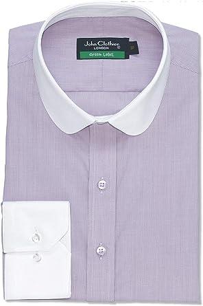 Camisa Hombre Cuello Penny Banqueros Redondo Violeta Pin ...