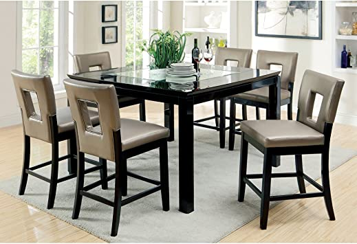 Glass Counter Height Dining Set