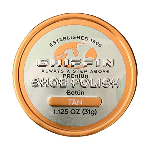 Amazoncom Griffin Leather Shoe Polish Tan 1125 Oz Made In The Usa