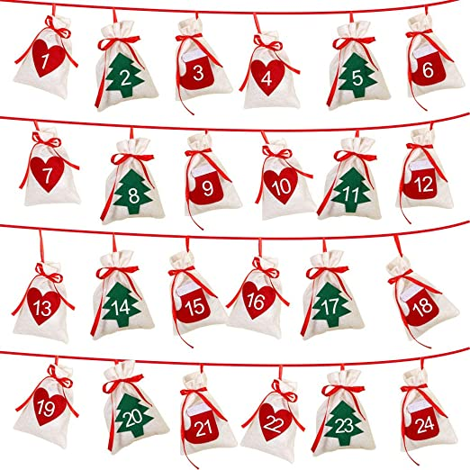 2020 Christmas Candy Countdown Calendar Amazon.com: AerWo Christmas Advent Calendar 2020, 24 Days Felt DIY